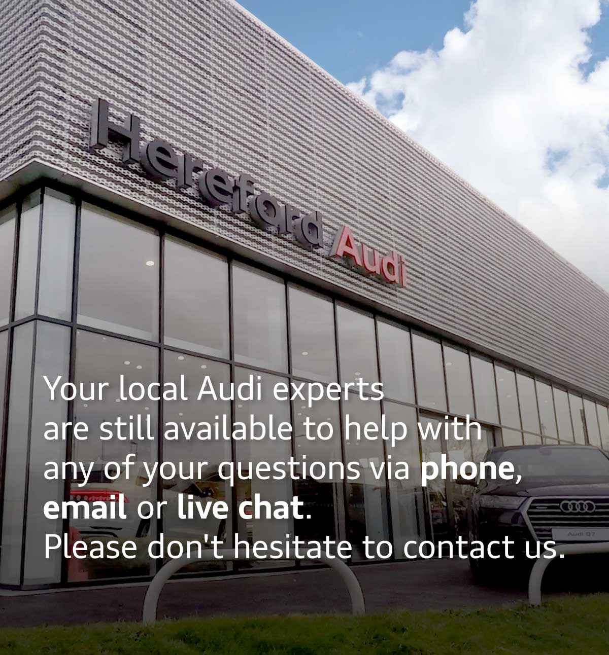 Audi Temporary Closed Message
