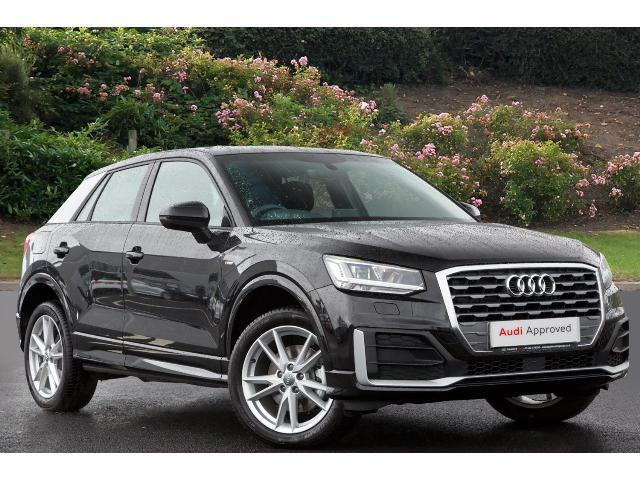 book a used audi q2 1 4 tfsi s line 5dr s tronic petrol estate test drive hereford audi. Black Bedroom Furniture Sets. Home Design Ideas